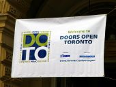 Door Open Toronto Sign