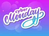 Cyber Monday Letter. Cyber Monday Sale Banner Vector. Cyber Monday Banner Design. Technology Backgro poster