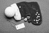 Christmas Stocking Sock Shaped Bag. Keep Family Traditions. Stocking Stuffers Idea. Santa Stocking W poster