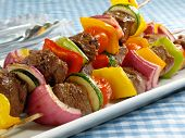 Leckere Steak-Kebabs