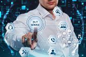 Business, Technology, Internet And Network Concept. Technical Support Center Customer Service. poster