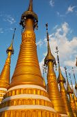 Buddhist temple roof ,Myanmar