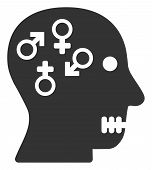 Psychosexual Disorder Raster Icon. Flat Psychosexual Disorder Symbol Is Isolated On A White Backgrou poster