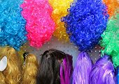 Synthetic Curly And Strait Styles Hair Colorful Wigs poster