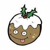 funny christmas pudding cartoon