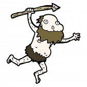 cartoon old cave man
