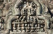 Ancient Khmer Sun and Moon Carving, Angkor