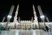 Medina Prophet's Mosque at night