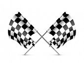Two crossed checkered flags, bitmap copy