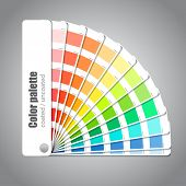 stock photo of veer  - Color palette guide on grey background - JPG