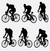 Mountain Biker Silhouette. Vektor-illustration