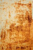 background of old rusty metal wall