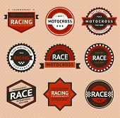 stock photo of moto-x  - Racing badges - JPG