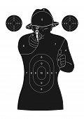 Human silhouette target