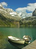Boats on Lake O'hara Yoho National Park Canada