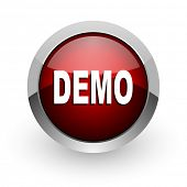 demo red circle web glossy icon