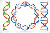 foto of biotech  - Vector illustration of dna strands - JPG