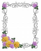 Wedding Or Party Floral Border