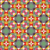 pic of hexagon pattern  - Bright vintage background - JPG