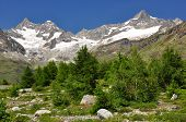 Beautiful mountain Ober Gabelhorn and Zinalrothorn - Swiss alps