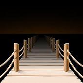 Night pier. Vector.