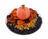 Pomegranate, Dried Apricots, Prunes And Raisin
