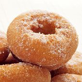 closeup of a pile of rosquillas, typical spanish donuts