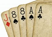 Close Up Of Aces And Eights, The Dead Mans Hand