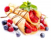 image of crepes  - Crepes With Berries - JPG