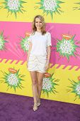 LOS ANGELES - MAR 23:  Bridgit Mendler arrives at Nickelodeon's 26th Annual Kids' Choice Awards at t