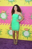 LOS ANGELES - MAR 23:  Madison Pettis arrives at Nickelodeon's 26th Annual Kids' Choice Awards at th
