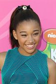 LOS ANGELES - MAR 23:  Amandla Stenberg arrives at Nickelodeon's 26th Annual Kids' Choice Awards at