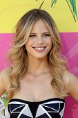 LOS ANGELES - MAR 23:  Halston Sage arrives at Nickelodeon's 26th Annual Kids' Choice Awards at the USC Galen Center on March 23, 2013 in Los Angeles, CA