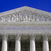 stock photo of supreme court  - United States Supreme Court Building in Washington DC - JPG
