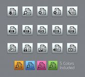 Documents Icons - 1 of 2 // Satinbox Series -------It includes 5 color versions for each icon in different layers ---------