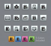 Book Icons // Satinbox Series -------It includes 5 color versions for each icon in different layers ---------