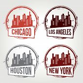 Stamps USA Cities