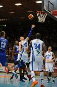 KAPOSVAR, HUNGARY �¢�?�? OCTOBER 26: Jancsikin Branislav (white 10) in action at a Hungarian Cha