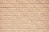 Thai Style Art Brick Wall Texture Pattern Background Picture