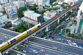Bts Skytrain Runs On Elevated Rails, Bangkok - Jul 20