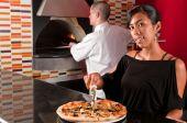 Koch und Kellnerin