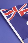 Background Close Up Of Australian Southern Cross Flag For National Public Holiday Event.