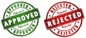 pic of reject  - Approved and rejected stamps isolated on white background - JPG