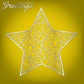stock photo of stellar  - Elegant filigree Christmas card in vector format - JPG