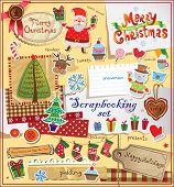Christmas decoration collection for scrapbook style.