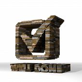 3D Graphic Of A Strong Well Done Sign  Built Out Of Stones