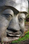 Stone head carving