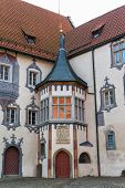 Castle in Fussen  Bavaria, Alps , Germany, Europe