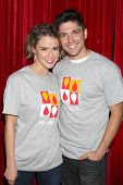 LOS ANGELES - OCT 6:  Linsey Godfrey, Robert Adamson at the Light The Night The Walk to benefit the
