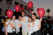 LOS ANGELES - OCT 6:  BnB Behind the Scenes Team at the Light The Night The Walk to benefit the Leuk